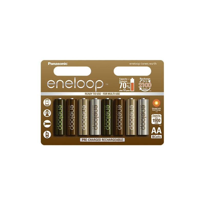Panasonic ENELOOP baterije TONES EARTH 8xAAA (750mAh)