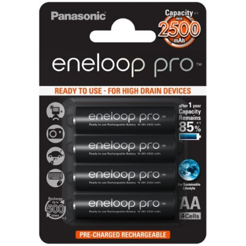 Panasonic ENELOOP PRO baterije (2450mAh) AA/4 kom
