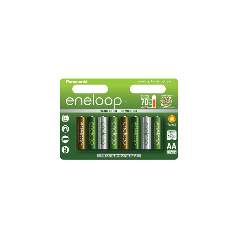 Panasonic ENELOOP baterije Botanic limited edition 8xAA (2000mAh)
