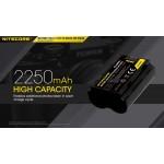 NITECORE zamjenska Fuji baterija NP-W235, 2250mAh, 7,2V