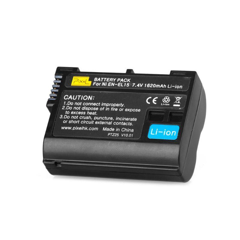 Pixel EN-EL15 zamjenska baterija 1620mAh 7,4V (Nikon D800, D800e, D7000, D7100, D600, D610, Micro-V1)