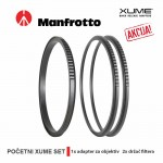 Manfrotto XUME početni set (1x adapter prsten za objektiv, 2x držač filtera) 77mm