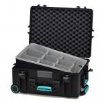 HPRC 2600W Plastični kofer s kotačima (ispuna-second skin) Blue Bassano