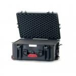 HPRC 2600W Plastični kofer s kotačima (ispuna-spužva) crni