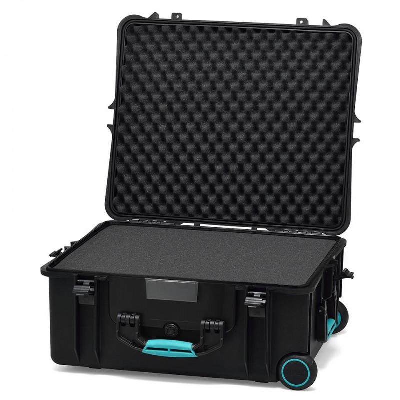 HPRC 2700W Plastični kofer s kotačima (ispuna-spužva) Blue Basanno