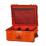 HPRC 2700WSFDORA Plastični kofer s kotačima (ispuna-mekani umetak sa pregradama) Narančasti