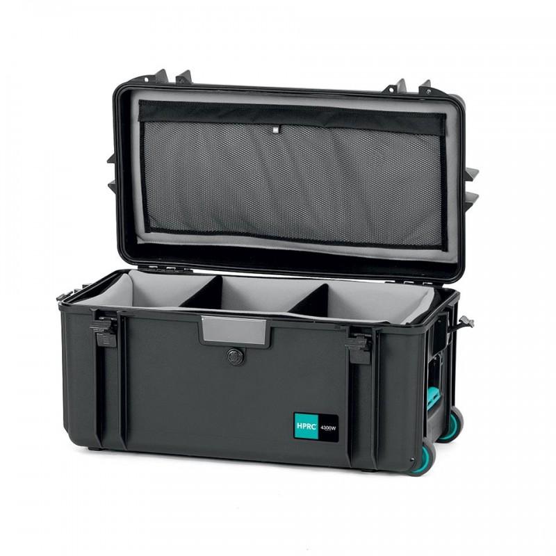 HPRC 4300W Plastični kofer sa kotačima (ispuna-mekani umetak sa pregradama) Blue Bassano