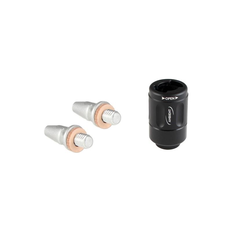 Ambient QRT-BK QUICKLOK release sa 2 kom QRTT tips (Black) za teleskopski nosač mikrofona