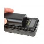 NITECORE UCN1 dvostrani putni USB punjač (Canon LP-E6/LP-E8)
