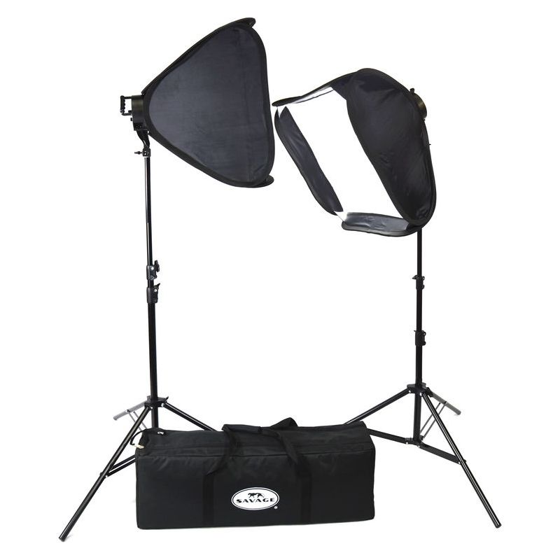Savage LED Portret Kit 600 (2x LED/Stativ/Softbox)