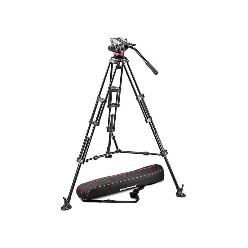 Manfrotto MVH502A,546BK-1 Twin Alu video stativ