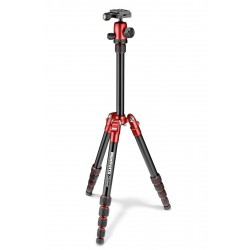 Manfrotto Element Traveller stativ + kugla glava SMALL, Red