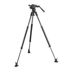 Manfrotto MVK608SNGFC Nitrotech Video stativ set (608+635 FastSingle karbon) - PROljetna akcija! -