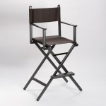 AMABILIA CHAIR 75 ALU - Redateljski/Make up stolac (crni)